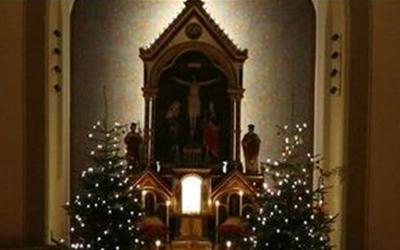 Kirche Davons Weihnachten Rorate
