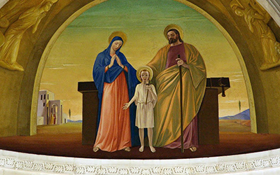 Hl Familie Altar Sankt Josef Kirche Nazareth