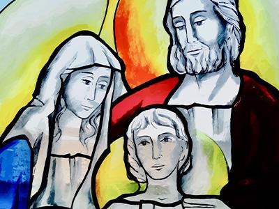 Heilige Familie Kirchenfenster